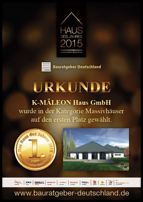 K-MÄLEON Hybridhaus ist Massivhaus des Jahres 2015